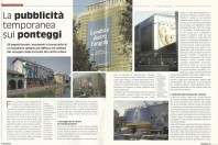 LA PUBBLICITA' TEMPORANEA SUI PONTEGGI